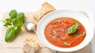Tomato soup with fresh basil