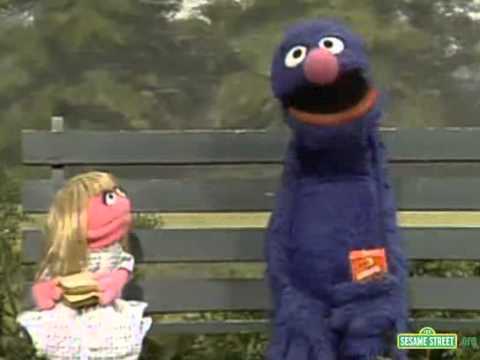 Classic sesame street cookie monster and prairie dawn
