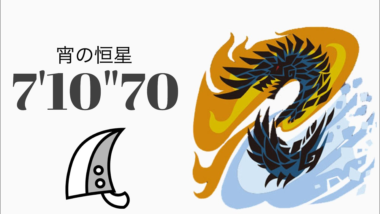 "MHWI アルバトリオン 大剣ソロ 7'10""70 宵の恒星/The Evening star Alatreon Greatsword solo"