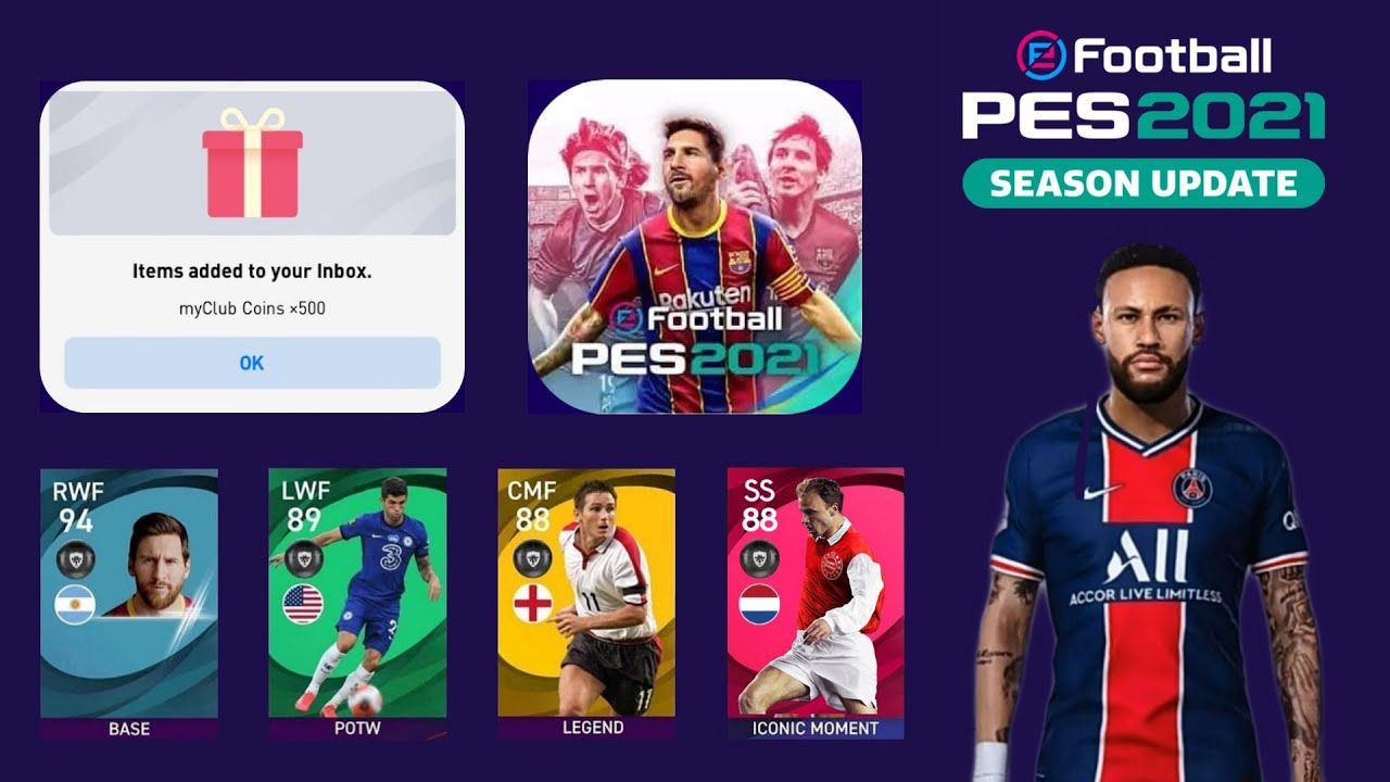 All Details & Informations About Pes 2021 Mobile Season Update