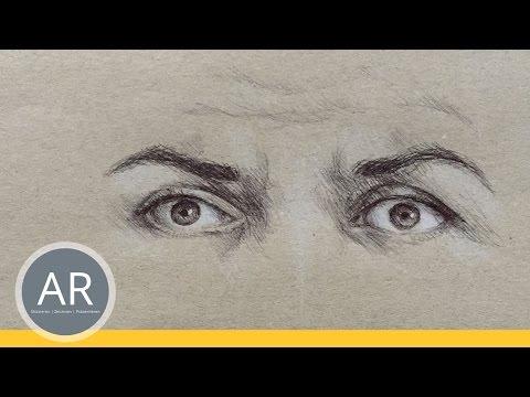 Augen zeichnen lernen. Emotionen vermitteln 1 von 6. Mappenkurs Kommunikationsdesign