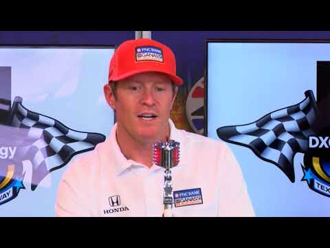 INDYCAR drivers Dixon, Chaves talk Texas Motor Speedway while visiting the track