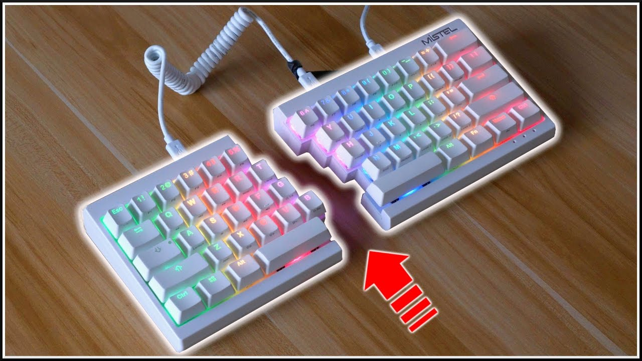 51bd67dad3a This Mechanical Keyboard Splits in Half! - YouTube