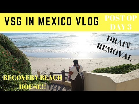 VSG Journey: Surgery Vlog Day 3 + Drain Removal & Pompeii Recovery Beach House!!!
