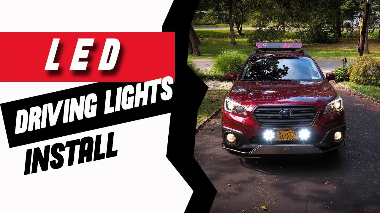 LED Driving Lights Install How to - YouTube