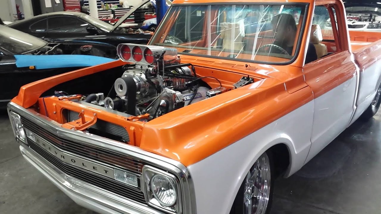 1970 C10 start up after tuning - YouTube