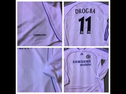 Classic Football Shirts - Chelsea Player Issue l/s Shirt with Drogba print