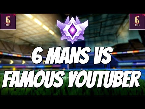 PLAYING AGAINST A FAMOUS YOUTUBER IN 6 MANS | Rocket League Competitive 3v3 Gameplay