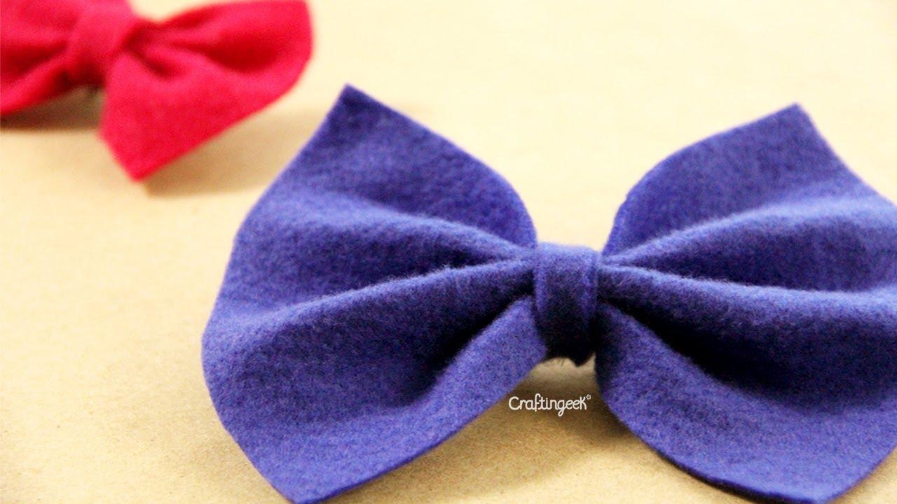 Moño de Fieltro // DIY Felt bow - YouTube