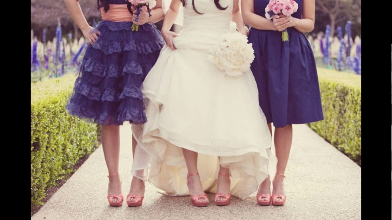 Peach And Navy Blue Inspired Wedding Ideas