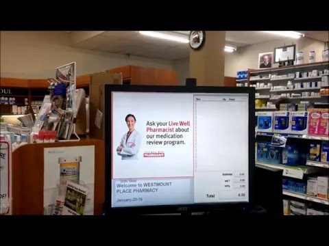 EXNP eReader at PHARMASAVE Westmount Place Pharmacy