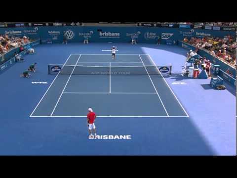 Matthew Ebden v Kei Nishikori - Highlights Men's Singles Round 2: Brisbane International 2014
