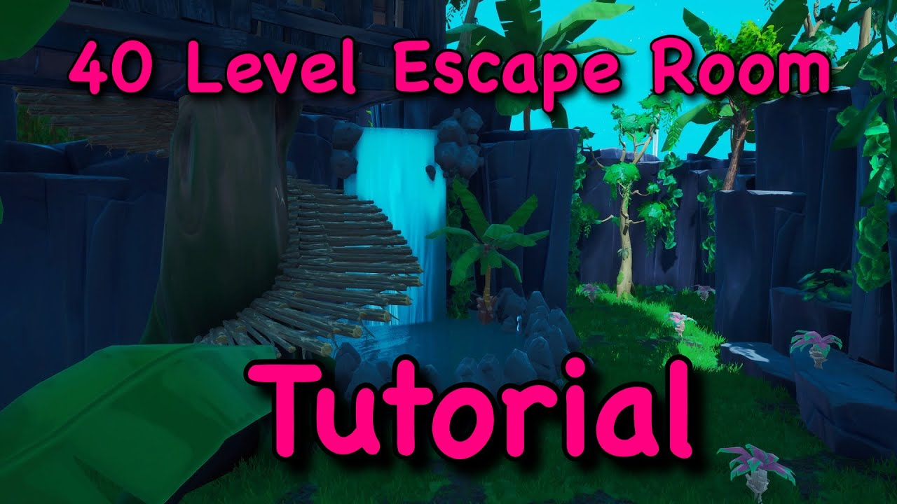 Download Fortnite 40 Level Escape Room Tutorial! Code: 1114-9768-7171