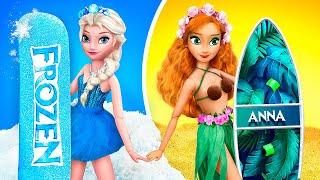 Elsa And Anna Hacks / 11 Doll DIYs