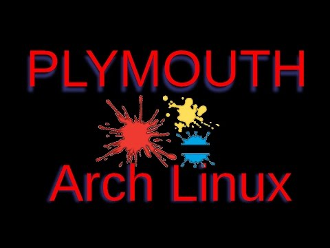 Arch Linux Splash Screen (Plymouth)