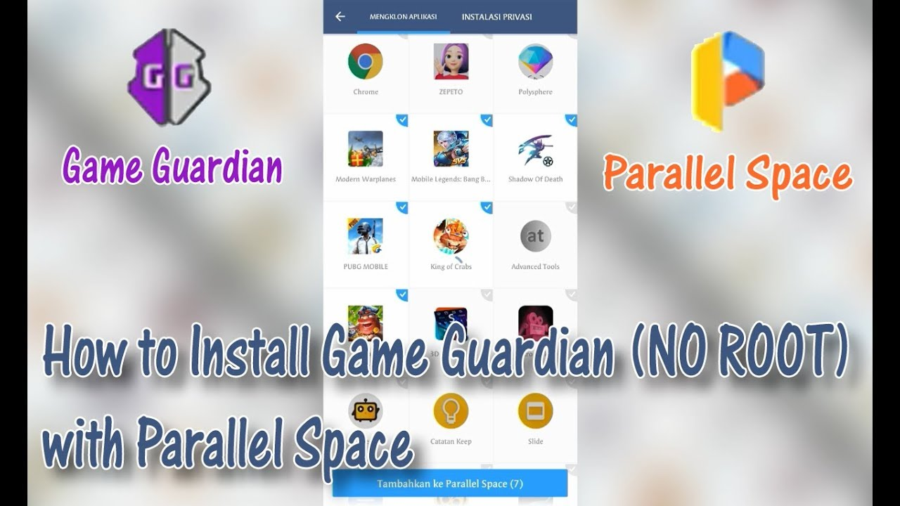 How To Install Game Guardian No Root Parallel Space Android