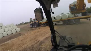 JCB Fastrac 8250 artic, Carting silage and Stacking