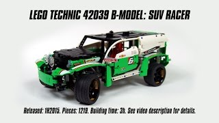 'Lego Technic 42039 B-model: SUV Racer' Speed Build & Review | Sariel's LEGO Technic Den