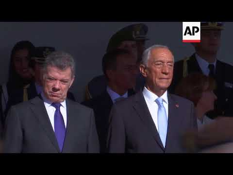 Colombian President Santos on official visit to Portugal