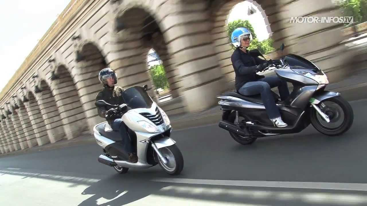 Duel Honda PCX 125 contre Peugeot Citystar 125 - YouTube