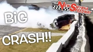 Hailie Deegan's Insane Crash in Daytona at New Smyrna Speedway!