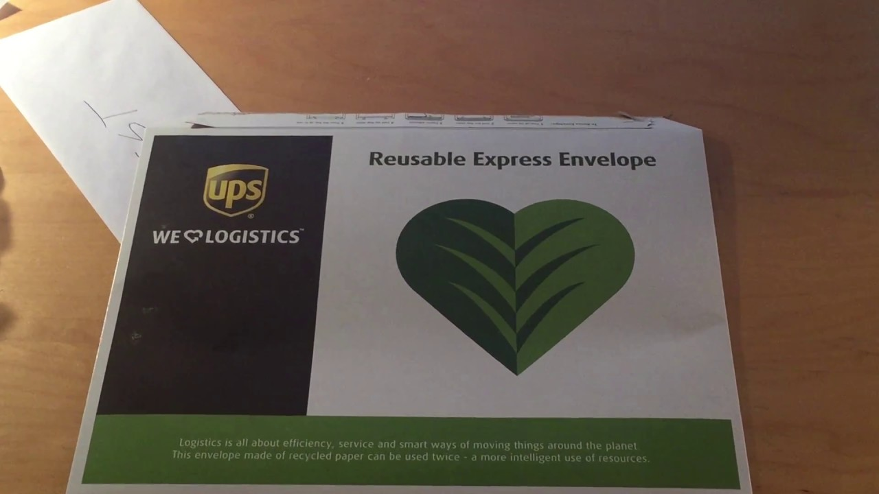 UPS Reusable Express Envelope- how to use it