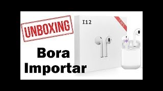 importar AirPods RÉPLICA PERFEITA do ALIEXPRESS (CHINA) i12 TWS -  LK TE9 - i200 TWS Barato 2020