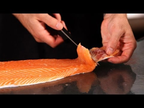 How to Remove the Skin from Salmon | Fish Filleting