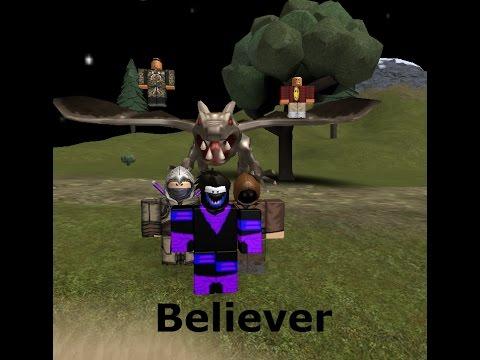 believer roblox music video