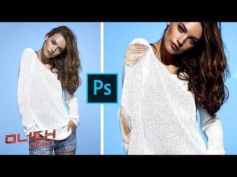 Как сделать порванную одежду в Фотошопе. Уроки Фотошоп