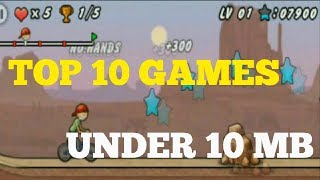 Top 10  Android Games under 10MB