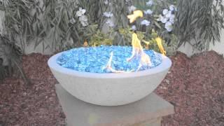 Grey Concrete Fire Bowl.