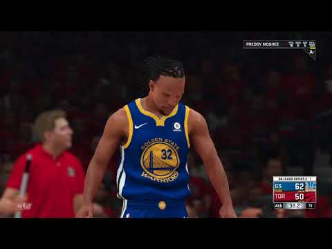 NBA 2k18 MYCareer PLAYOFFS FINALS WARRIORS vs. Raptors Game 4 part II.