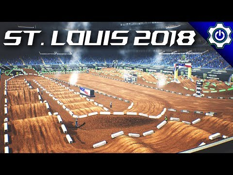 Monster Energy Supercross - 2018 St. Louis SX Gameplay