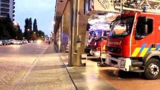 Brandweer Brussel ,Pompiers Bruxelles - Uitruk,Départ autopompe P6 en  P3