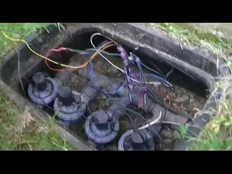 how to turn on irrigation system manually