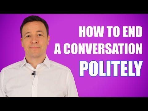 3 Tipps ein Gespräch höflich zu beenden/ 3 tips to end a conversation politely