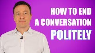 3 Tipps ein Gespräch höflich zข beenden/ 3 tips to end a conversation politely