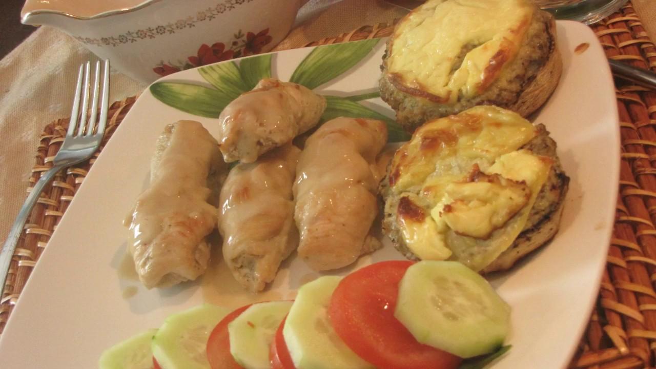 recette d'escalopes de poulet farcie aux champignons ...