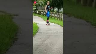 My youngest son, Jon, skateboarding at the park☺