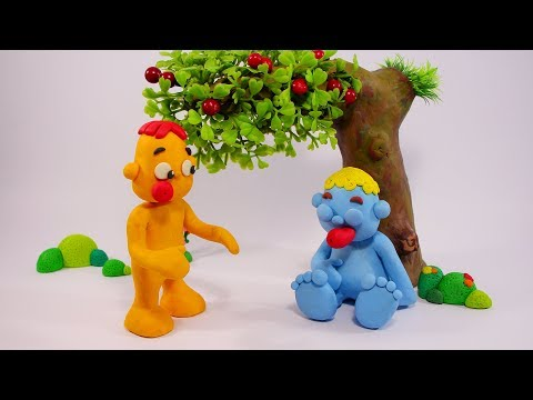 Oba and Trup cartoon- Play doh stop motion videos