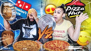 PIZZA HUT VS DOMINOS FOOD CHALLENGE!!