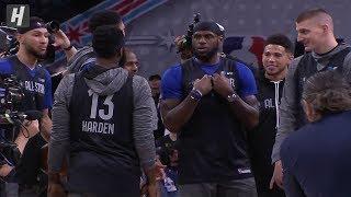 Team LeBron - Half Court Shots Contest - 2020 NBA All-Star Practice