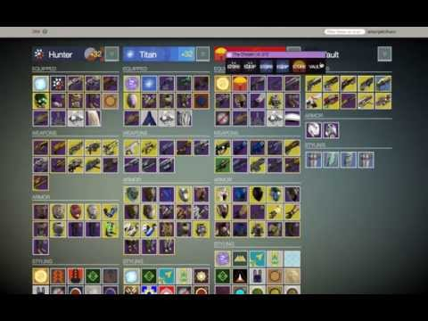 Destiny Item Manager - Loadouts In Action (Chrome Extension - v2 6)