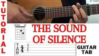 THE SOUND OF SILENCE - SIMON & GARFUNKEL - TUTORIAL - How to play - Guitar