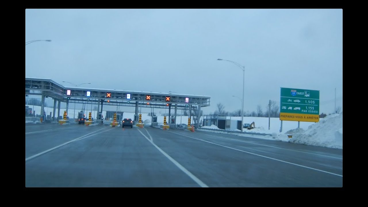 Driving Montreal's New A30 Toll Bridge (driver's seat view ...