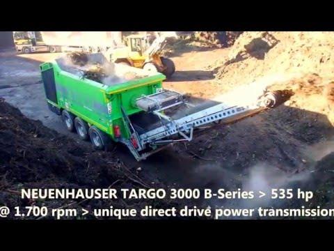 Neuenhauser TARGO 3000 single shaft shredder Ein Wellen Zerkleinerer shredding greenwaste