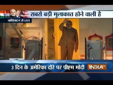 PM Modi arrives at Joint Base Andrews, Washington DC
