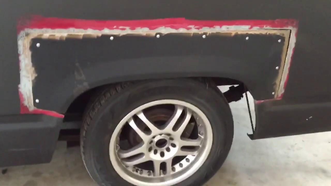 Wheel Arch Rust Repair Rear Wheel Well Silverado Youtube