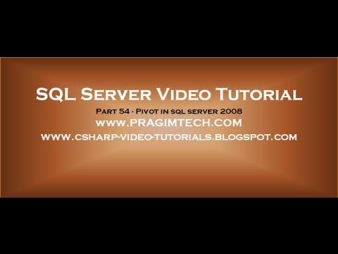 Pivot In Sql Server 2008   Part 54